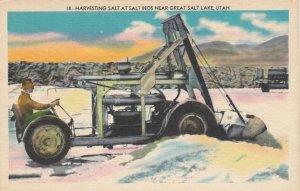GREAT SALT LAKE , Utah, 1900-10s; Harvesting Salt at Salt Beds