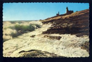 Pemaquid Point, Maine/ME Postcard, Pemaquid Point Light/Lighthouse