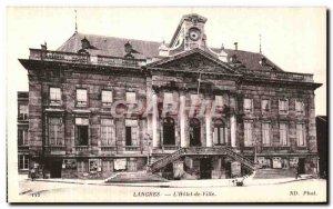 Old Postcard Langres The Hotel De Ville