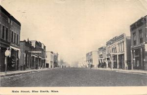 Blue Earth Minnesota~Main Street~Doll in Dress Sign 1910 PC