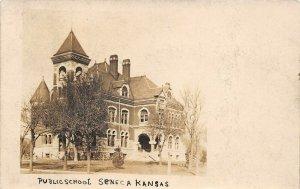LP27 Seneca   Kansas RPPC  Postcard Public School