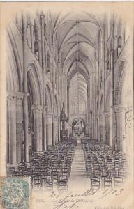 France Dol de Bretagne La nef de la Cathedrale 1903