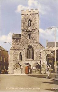 Hand-tinted, St. Nicolas' Church, Abingdon, Oxfordshire, England, United King...