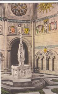 Hand Colored PC: Interior View, The Baptistry, Cathedral of St. John the Divi...
