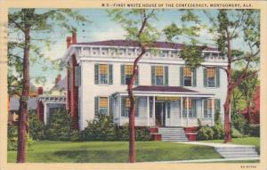 Alabama Montgomery First White House of The Confederacy Curteich 1941 Curteich