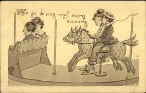 Merry-Go-Round Carousel Comic DRIVING MOST EVERY EVENING FLC Clavally PC