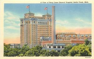 Battle Creek Michigan~View of Percy Jones General Hospital~1940s~Post Card