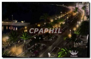 Postcard Old Nice's Promenade des Anglais night