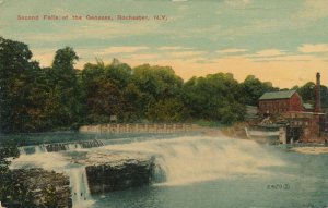 Second Falls of the Genesee River - Rochester NY, New York - pm 1914 - DB