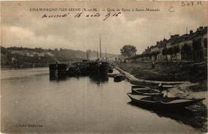 CPA CHAMPAGNE-sur-SEINE - Quai de SEINE a St-MAMMES (436045)