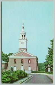 Vincennes Indiana~Wabash River Banks Cathedral~1960s Postcard