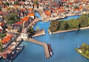 Netherlands Hoorn gezien vanuit de Lucht, Ship Harbour Air view Port
