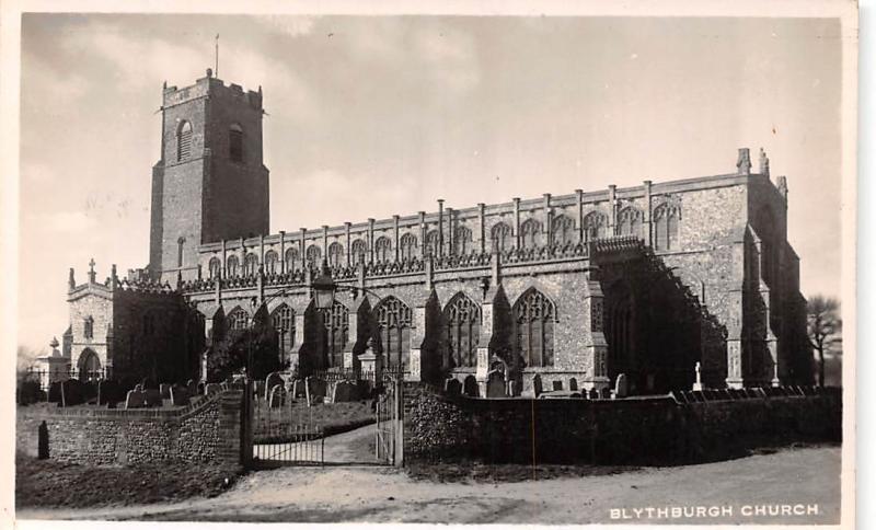 blythburgh church greetings best wishes 1952 hippostcard