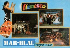 Flamenco Mar-Blau Night Club Los Molinos Ibiza 1980s Postcard