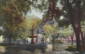 Central Park, Mansfield, Ohio Vintage Postcard