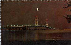 MI - Mackinac Bridge at Night