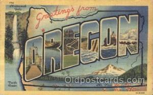 Oregon, USA Large Letter State States Postcard Postcards  Oregon, USA