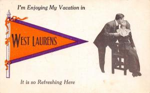 Enjoying My Vacation in West Laurens New York~So Refreshing Here~1912 Pennant