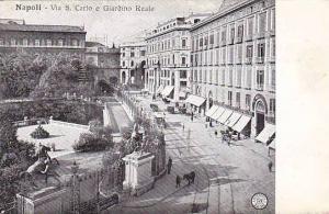 Via S. Carlo e Giardino Reale, Napoli (Campania), Italy, 1900-1910s