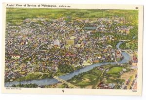 Aerial View Wilmington Delaware DE Linen
