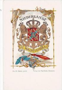 Netherlands Coat Of Arms Je Maintiendrai
