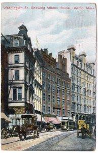 Boston, Mass, Washington St., Showing Adams House