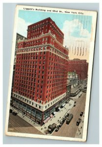 Liggett's Building and 42nd St., New York City NY c1927 Postcard J10