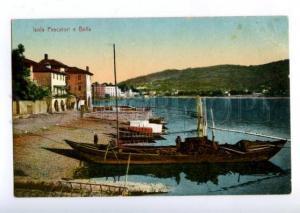 172471 ITALY Isola Pescatori e Bella Vintage postcard