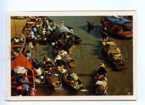 196744 Thailand Floating Market old postcard