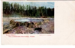 Kropp #286, Punch Bowl, Yellowstone National Park, PRIVATE MAILING CARD,