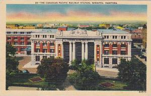 The Canadian Pacific Railway Station, Winnipeg, Manitoba, Canada,  30-40s