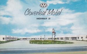 CLANTON, Alabama, PU-1960's; Cloverleaf Motel, U.S. Highway 31