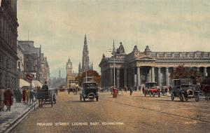 Princes Street Looking East, Edinburgh, Scotland, early postcard