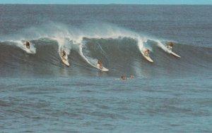 HAWAII, 1960-70s; Surfing in Hawaii, Riding the Big Surf