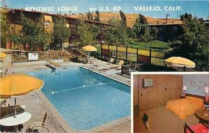 Kentwig Lodge on U.S. 40 Vallejo California CA, Chrome