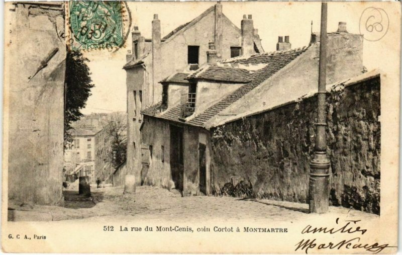CPA PARIS 18e - Rue du Mont-Cenis (74473)