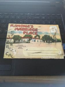Vtg Picture Postcard Book: Ramona's Marriage Place, Old Town San Diego, 20 views