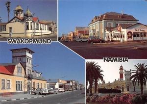 Namibia Swakopmund Coastal Resort Town Restaurant, Street Cars Auto