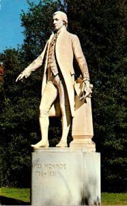 President James Monroe Statue At Ash Lawn
