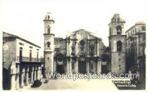 Cathedral - real photo Havana Republic of Cuba Unused