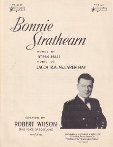 Bonnie Strathearn Robert Wilson Rare Scottish Sheet Music