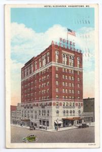 Hotel Alexander Hagerstown MD Curteich 1930