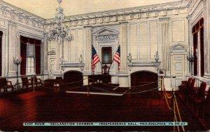 Pennsylvania Philadelphia Independence Hall Declaration Chamber East Room