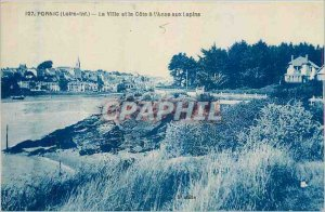 Old Postcard Pornic Loire Inf The City and Cote Anse aux Rabbits