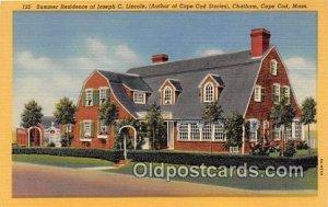 Summer Residence of Joseph C Lincoln Cape Cod, Mass, USA Unused
