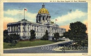 ST. Paul, Minnesota, USA United States State Capital Building 1952 very light...