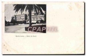 Old Postcard Monte Carlo Hotel de Paris