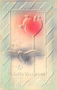Valentines Day Post Card Old Vintage Antique Postcard 1908