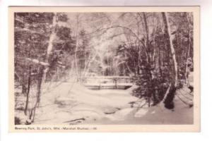 Bowring Park with Snow, St John's Newfoundland, Marshall Studios