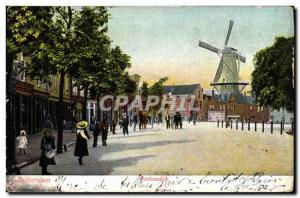 Postcard Old Windmill Rotterdam